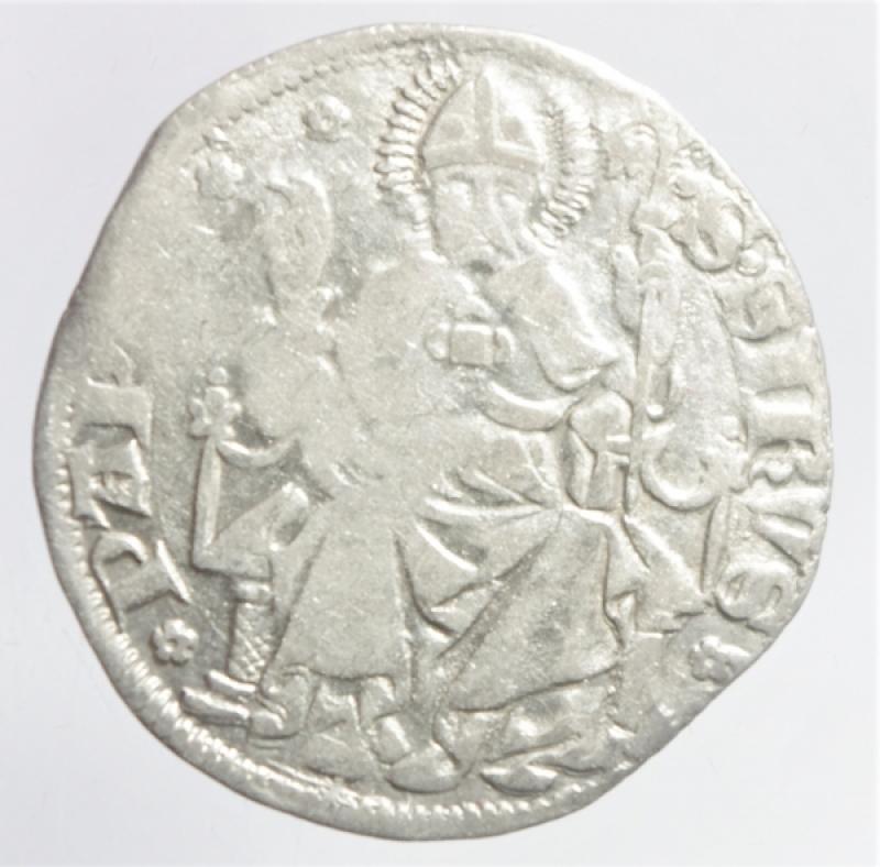 obverse: Zecche Italiane. Pavia. Galeazzo II Visconti. 1359-1378. Grosso da un soldo e mezzo.Peso 2,50 gr. Ag. Cast.1. BB. R.