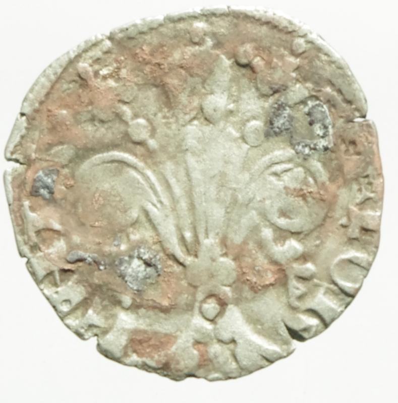 reverse: Zecche Italiane.Firenze repubblica.Quattrino.Ag.Peso 0,80 gr.Diametro 19 mm.BB