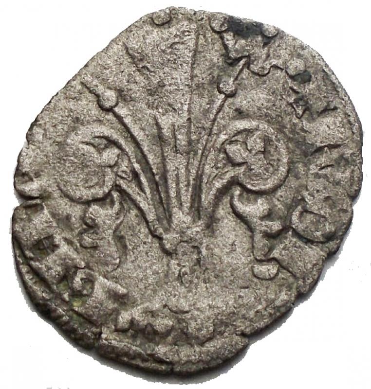 reverse: Zecche Italiane -Firenze.Repubblica.Quattrino III Serie. II Sem 1371 - II Sem 1377. gr 0,71. Lettera B attraversata da pastorale. MI. qBB