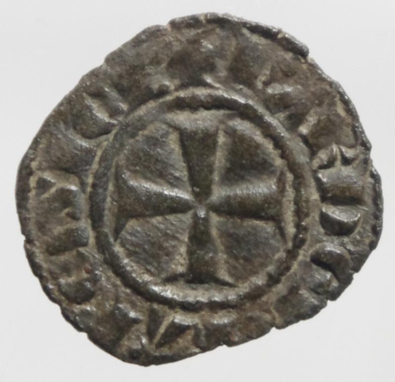 obverse: Zecche Italiane .Messina. Carlo I d  Angi. 1266-1285. Denaro. MI. D/ KA. R/ Croce. Sp.37. Peso 0.75 gr. BB+.