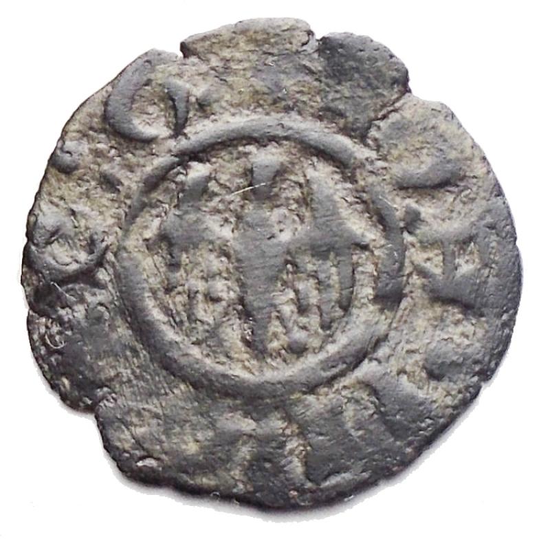 obverse: Zecche Italiane -Messina.Martino il Giovane (1402-1409).Denaro.MIR 222.MI.gr 0,46. qBB