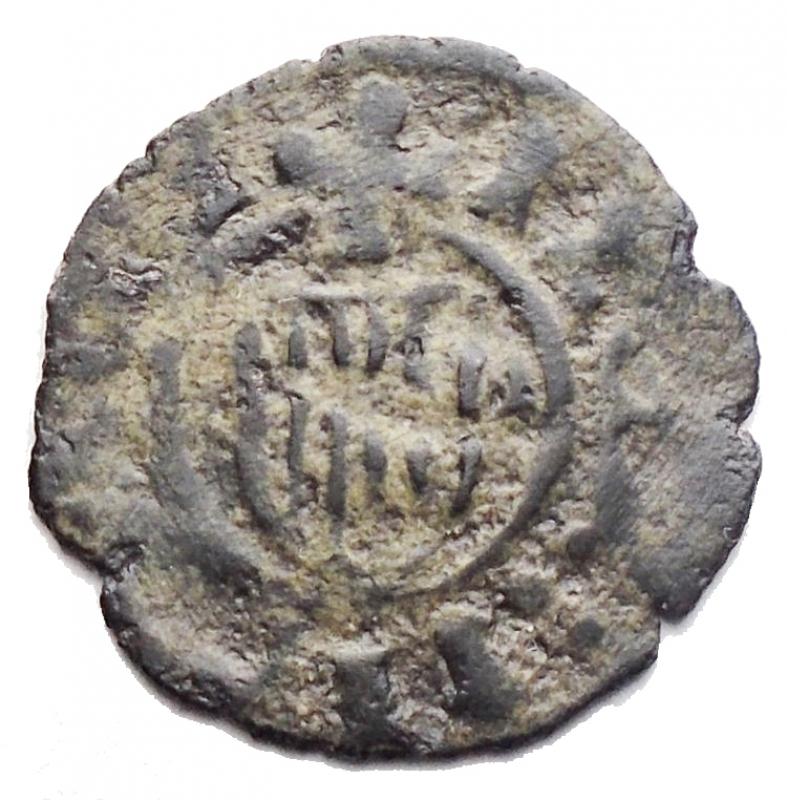 reverse: Zecche Italiane -Messina.Martino il Giovane (1402-1409).Denaro.MIR 222.MI.gr 0,46. qBB