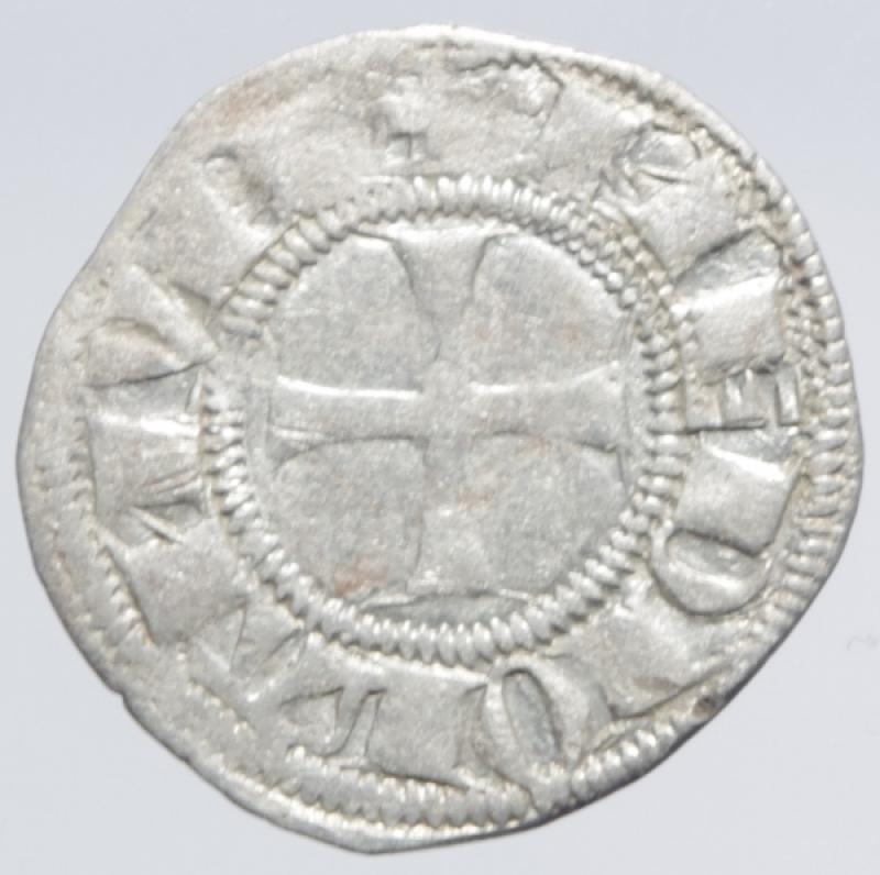 reverse: Zecche Italiane.Milano. Bernab e Galeazzo Visconti (1354-1378). Sesino. D\ Croce patente R\Biscione.Cr. 5. AG. g. 1.00. BB+