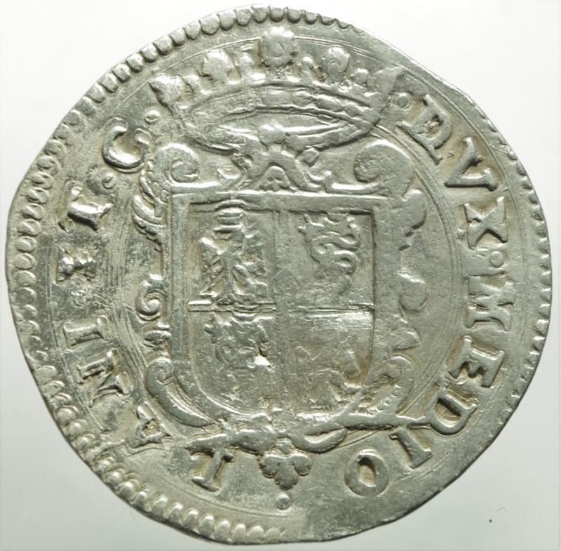 reverse: Zecche Italiane.Milano. Filippo II re di Spagna (1556-1598). Scudo 1594 AG gr. 31,87. Crippa 15/C. MIR 308/25. Olivares 47 (12 tipo). Molto raro. BB