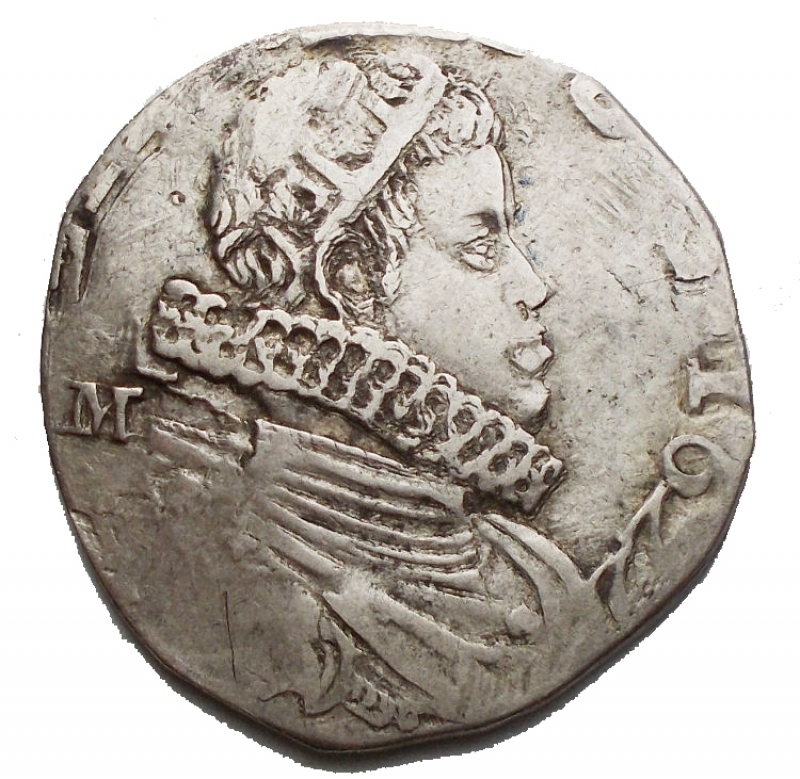 obverse: Zecche Italiane -Napoli.Filippo IV (1621-1665).Tar 1622.AG.g 5,06. qBB