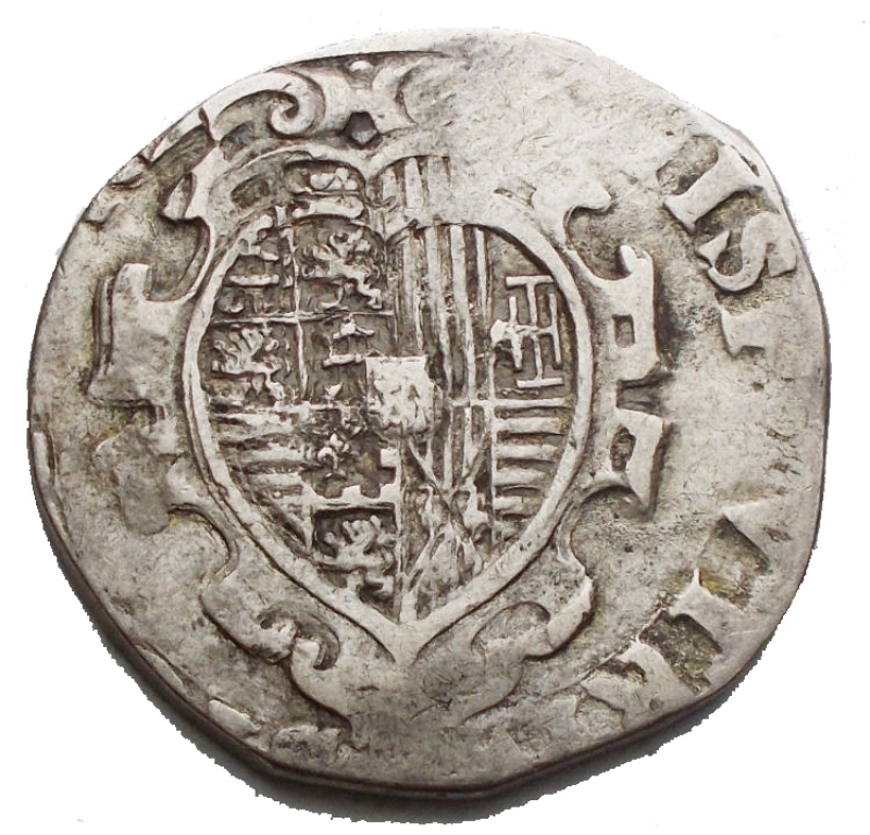 reverse: Zecche Italiane -Napoli.Filippo IV (1621-1665).Tar 1622.AG.g 5,06. qBB