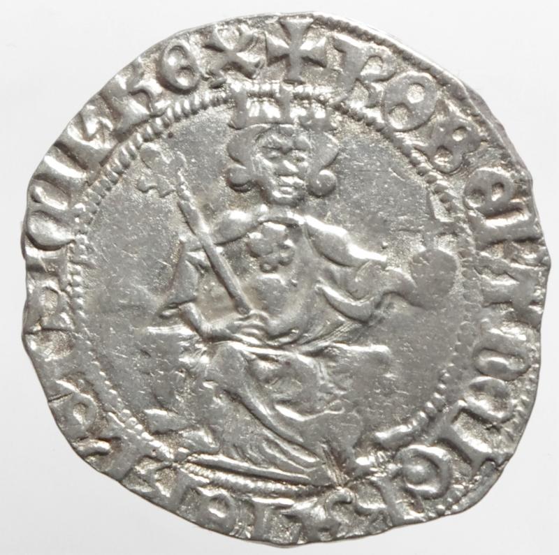 obverse: Zecche Italiane. Napoli. Roberto d Angi. 1309-1343. Gigliato. P.R. 2. Ag. Peso gr 3,80. Diametro mm 26. BB+