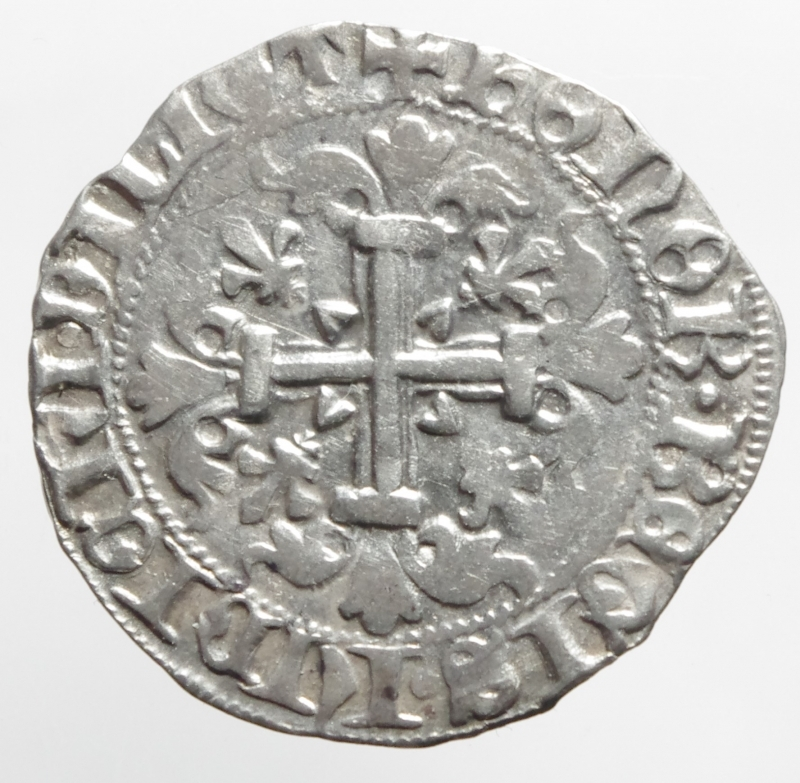 reverse: Zecche Italiane. Napoli. Roberto d Angi. 1309-1343. Gigliato. P.R. 2. Ag. Peso gr 3,80. Diametro mm 26. BB+