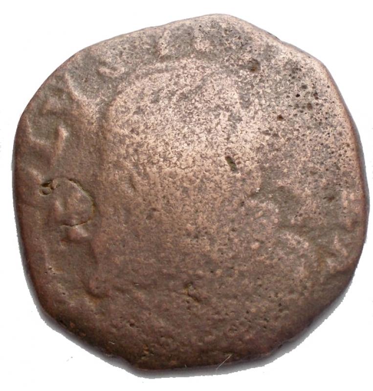 obverse: Zecche Italiane - Napoli Carlo II di Spagna (1674-1700).GranoAE. 6,56 gr.MB-qBB