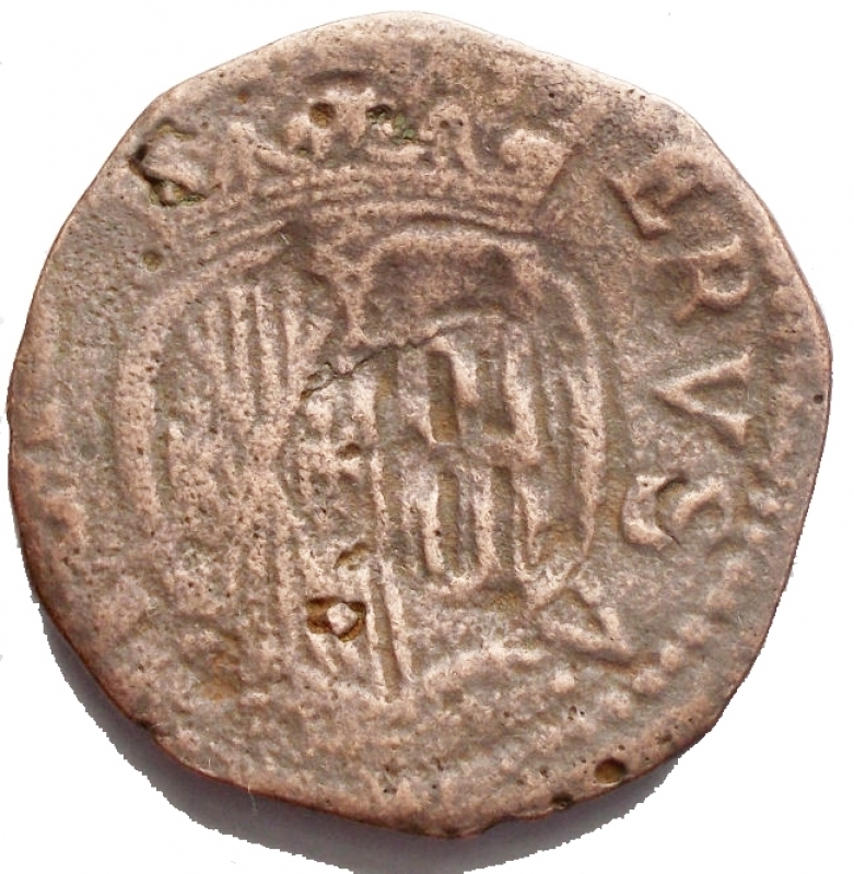 reverse: Zecche Italiane - Napoli Carlo II di Spagna (1674-1700).GranoAE. 6,56 gr.MB-qBB
