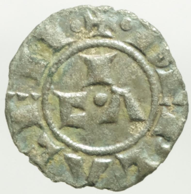 reverse: Zecche Italiane. Piacenza. Comune Corrado II. 1140-1313. Mezzano. Peso 0,67 gr. MIR 1108. BB.