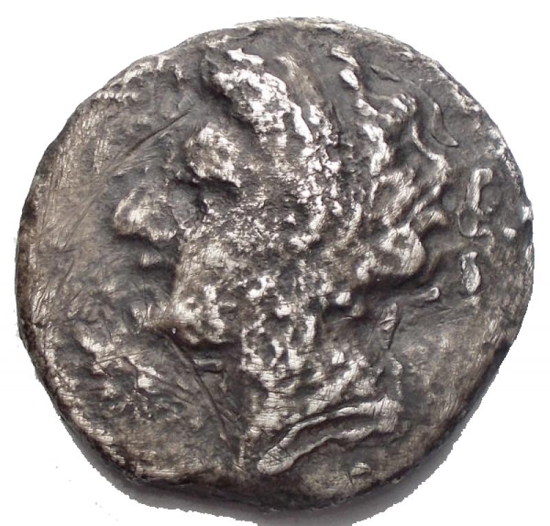 reverse: Mondo Greco - Napoli Nomos in Ag da catalogare. gr 5,65. mm 18,4