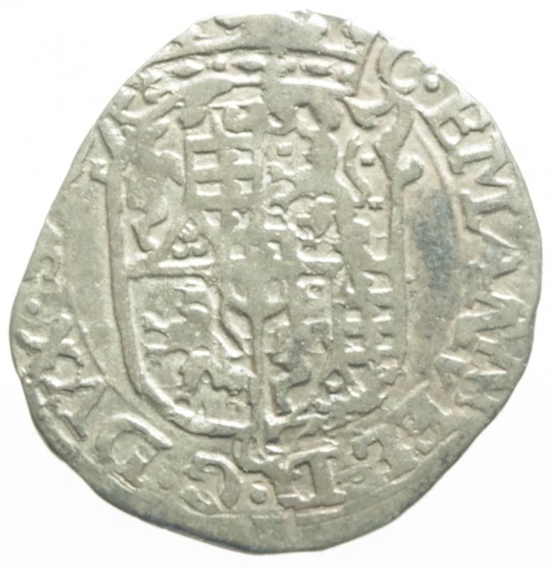 obverse: Casa Savoia. Carlo Emanuele I. 1580-1630. Soldo da 4 denari 1581. MI. Peso gr. 1,450. BB