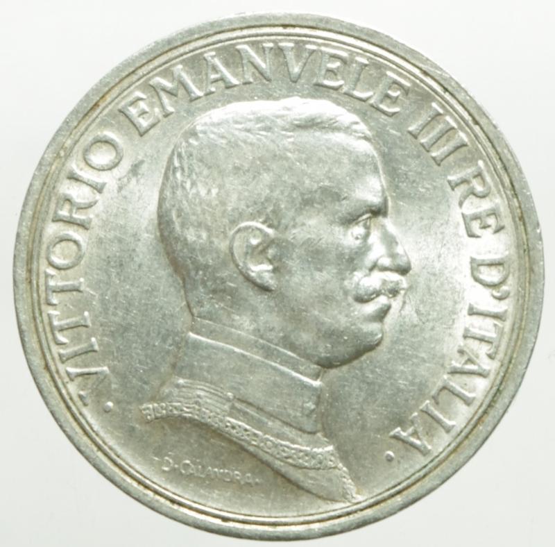 obverse: Casa Savoia. Vittorio Emanuele III. 2 Lire 1915 Quadriga Briosa. Peso 10 gr. Diametro 27 mm. Ag. SPL.