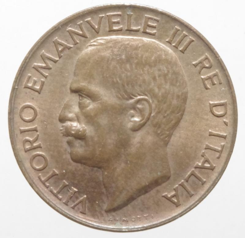 reverse: Casa Savoia. Vittorio Emanuele III. 5 centesimi spiga 1919. P.898. Peso 3,25 g. FDC. Rame rosso. R