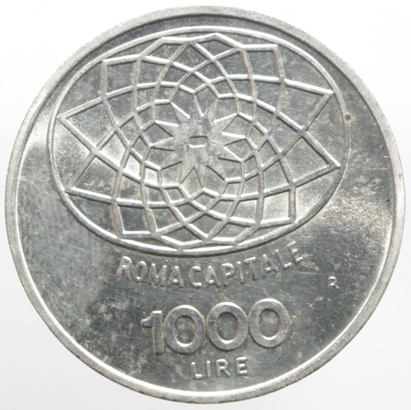 obverse: Repubblica Italiana. 1000 lire Concordia 1970. FDC.