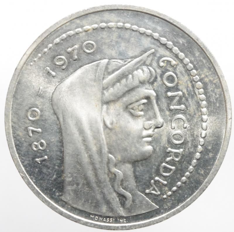 reverse: Repubblica Italiana. 1000 lire Concordia 1970. FDC.