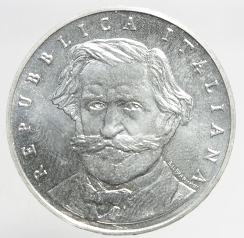 obverse: Repubblica Italiana.1000 lire Verdi 2001.ar.FDC.ga