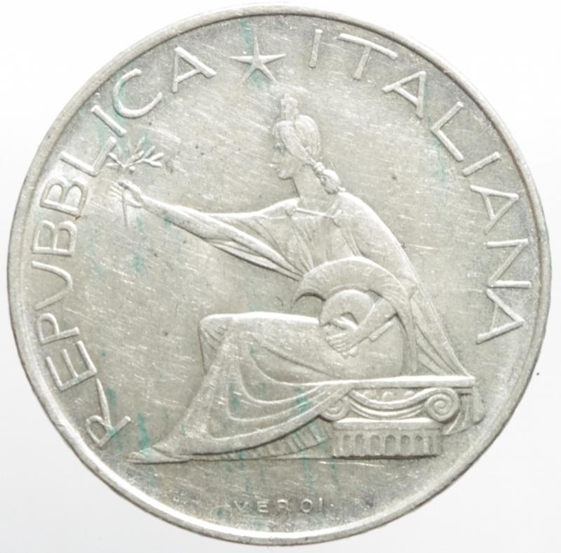 reverse: Repubblica Italiana. 500 lire 1961.Unit d  Italia Centenario. FDC.