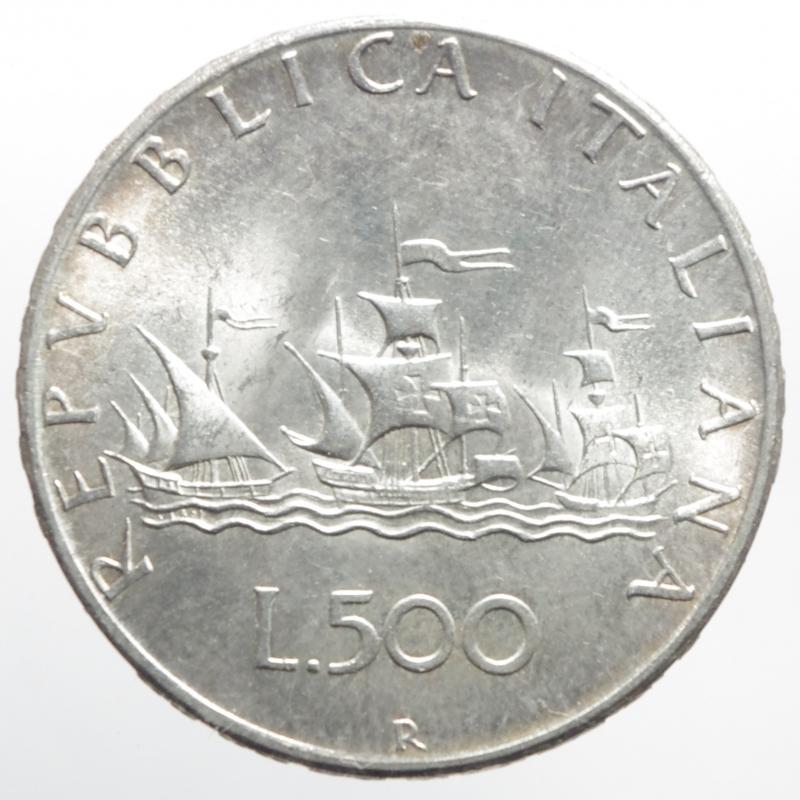 obverse: Repubblica Italiana. 500 lire 1967.SPL