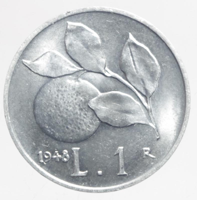 obverse: Repubblica Italiana. 1 Lira 1948.Arancia.qFDC.ga