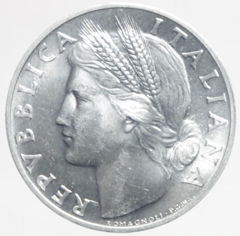 reverse: Repubblica Italiana. 1 Lira 1948.Arancia.qFDC.ga