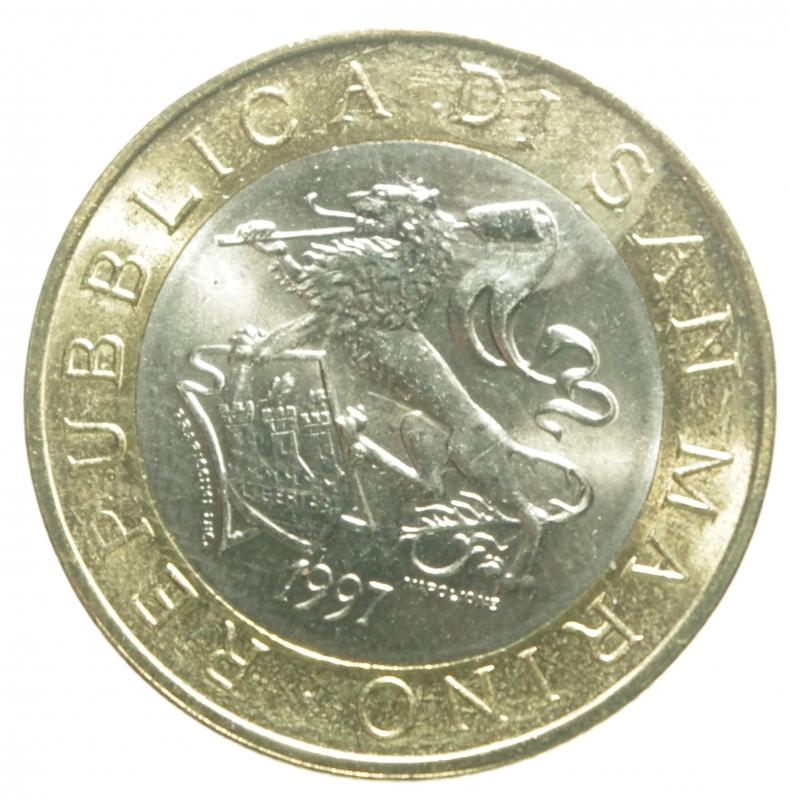obverse: San Marino.1000 Lire bimetalliche 1997.FDC