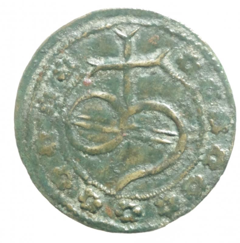 obverse: Medaglie e placchette.Tessera mercantile o gettone in ae.Peso3,55 gr. BB+.