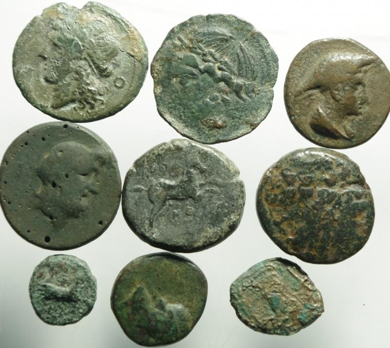 obverse: lotto di 9 monete