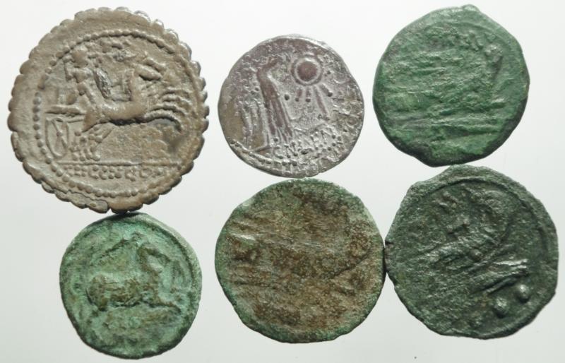 reverse: 6 monete repubblica
