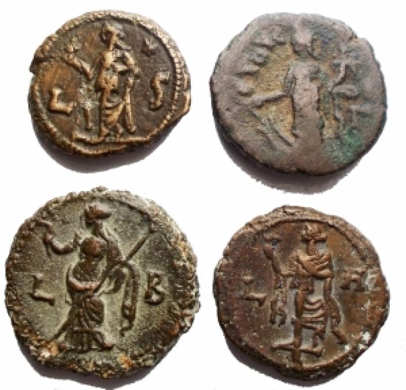 obverse: Lotti - Provincia Romana. Egitto. Alessandria. Insieme di 4 tetradracme in BI