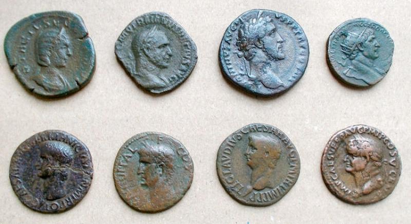 obverse:  Lotti - Impero Romano. Grandi e medi bonzi. Insieme di 8 pezzi