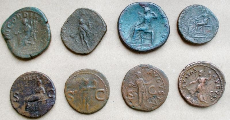reverse:  Lotti - Impero Romano. Grandi e medi bonzi. Insieme di 8 pezzi