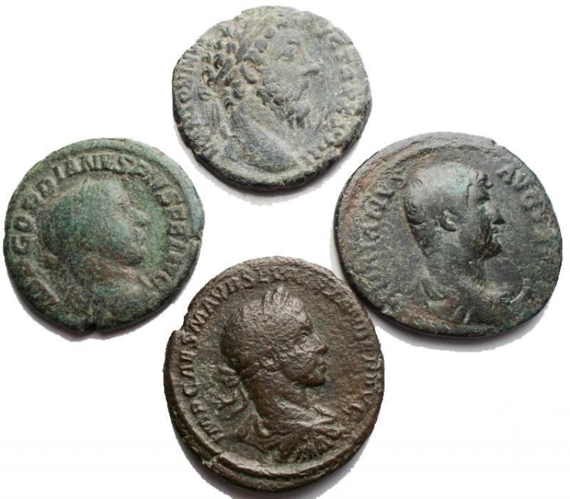 obverse: Lotti - Impero Romano. Insieme di 4 Medi Bronzi