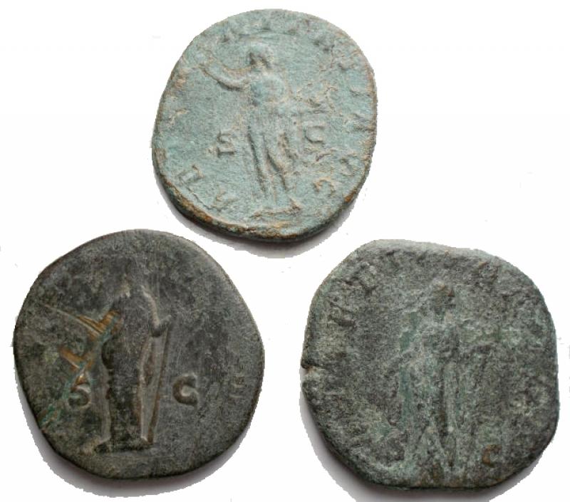 reverse: Lotti - Impero Romano. Insieme di 3 Grandi Bronzi