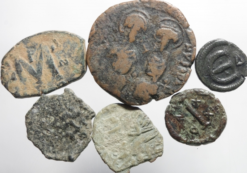 obverse: 6 monete bizantine
