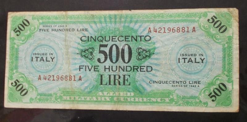 obverse: Cartamoneta - Banconota da 500 Am Lire (13)