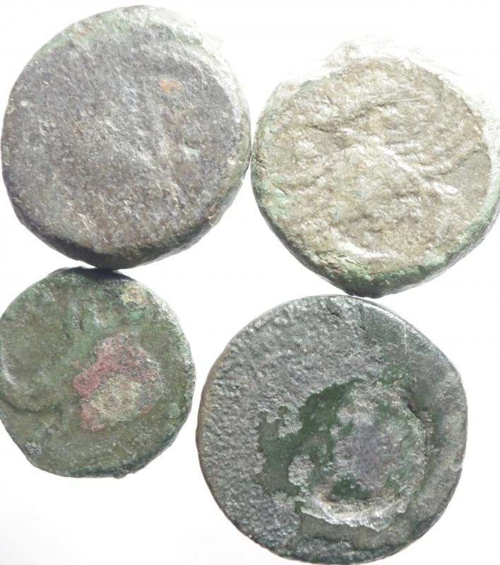 reverse: Mondo Greco.Akragas.Lotto di 4 monete in ae,mediamente MB+.