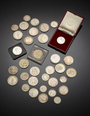 obverse: Miscellanea di monete modulo scudo in argento del XIX e XX secolo.