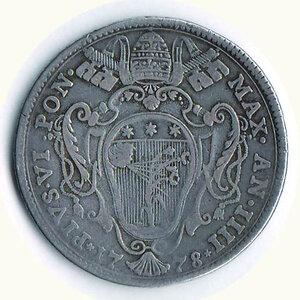 reverse: BOLOGNA - Pio VI (1775-1799) - Mezzo Scudo 1778