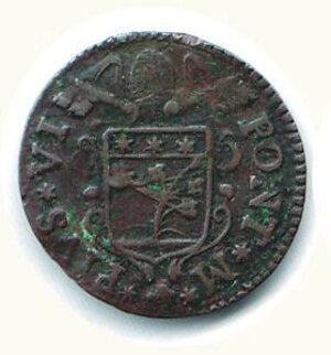 obverse: BOLOGNA - Pio VI (1775-1799) - Quattrino 1784.