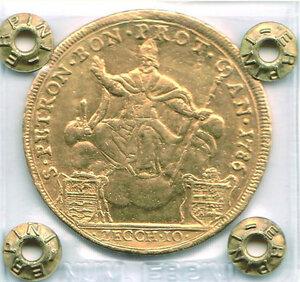 obverse: BOLOGNA - Pio VI (1775-1799) - 10 Zecchini 1786