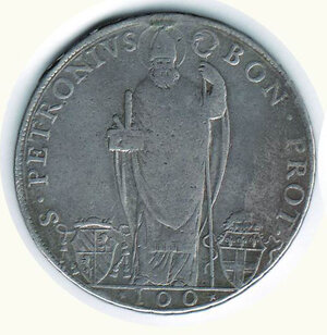 obverse: BOLOGNA - Pio VI - Scudo da100 Bolognini 1777.