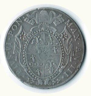reverse: BOLOGNA - Pio VI - Scudo da100 Bolognini 1777.