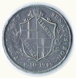 reverse: BOLOGNA - Governo  popolare (1796-1797) - Scudo 1797.
