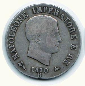 obverse: BOLOGNA - 5 Lire 1810.