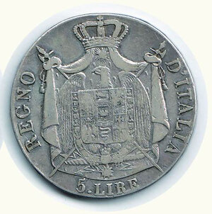 reverse: BOLOGNA - 5 Lire 1810.