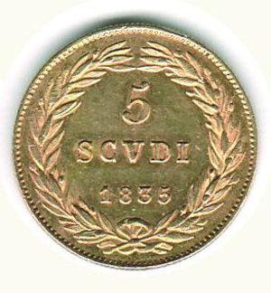 reverse: BOLOGNA - Gregorio XVI (1831-1846) - 5 Scudi 1835 A.V.