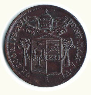 obverse: BOLOGNA - Gregorio XVI (1831-1846) - Baiocco 1836.