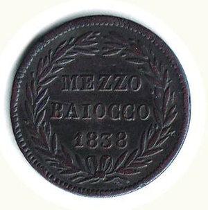 reverse: BOLOGNA - Gregorio XVI - ½ Baiocco 1838.